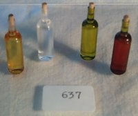 "#637A 1""Scale BL Wine Bottle(amber)& Cork"