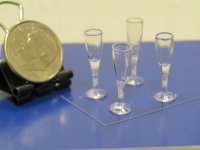 "#653 1""Scale Fluted Champagne Glasses"
