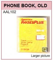 AAL102 OLD TELEPHONE BOOK