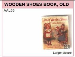 AAL55 LITTLE WOODEN SHOE BOOK