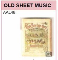AAL48 OLD SHEET MUSIC