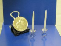 "#628 1""Scale Candles and Holders"