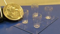 "#626 1""Scale Soda Glasses"