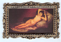 62190C The Maja by Goya on Canvas - Click Image to Close