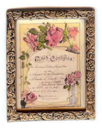 72240 Birth Certificate with Roses