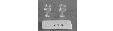 #734 1/2 Scale Champagne Glasses - Click Image to Close
