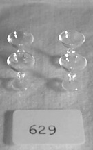 "#629 1""Scale Sherbet Glasses - Click Image to Close"